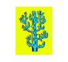 Cactus azul Art Print