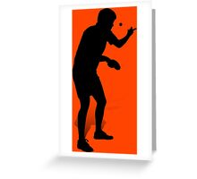 Table Tennis Player 2 Greeting Card