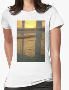 Tranquil Ocean Landscape Reflection Womens Fitted T-Shirt