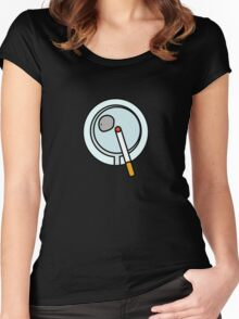ASHTRAY CIGARETTE SMOKE  Women's Fitted Scoop T-Shirt