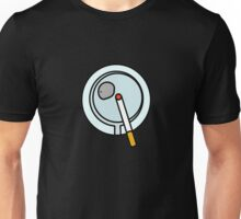 ASHTRAY CIGARETTE SMOKE  Unisex T-Shirt
