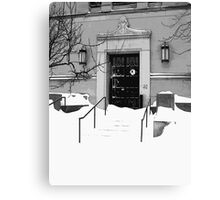 Winter Weather Snow Storm Canvas Print