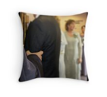 The Minister Takes Charge Throw Pillow