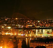 KKL in Lucerne by night by Frederic Chastagnol