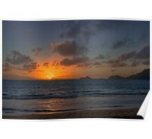Sunrise at Bellows Poster