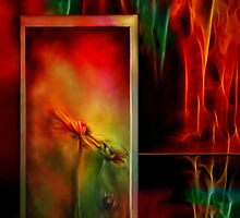 Autumn Fire - Abstract Art by Renee Dawson