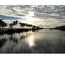 Backwater dusk Photographic Print