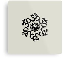 OM LOTUS - Buddhism - Symbol of spiritual strength  Metal Print