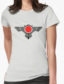 Egyptian Sun Disc, Winged Globe, Symbol of the perfected soul,  Womens Fitted T-Shirt