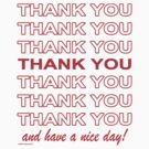 Thank You Shopping Bag by kaptainmyke