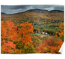 Red Barn in Fall Colors Poster
