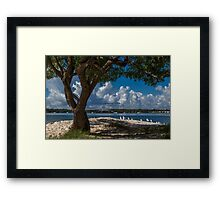 Sand and Seagulls Framed Print