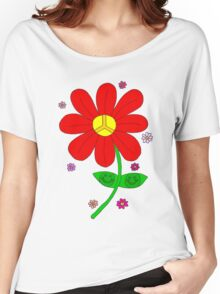 Hippy Happy Flower Women's Relaxed Fit T-Shirt