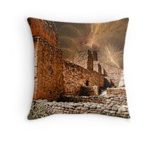 Cosmic Storm approaches  Throw Pillow