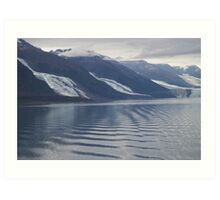 Glaciers College Fiord Alaska Art Print