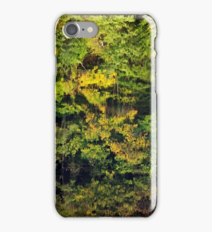 Autumn reflections in the Rhone river iPhone Case/Skin