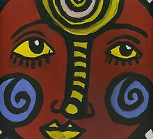 Tribal Face 1 by Penny Hetherington