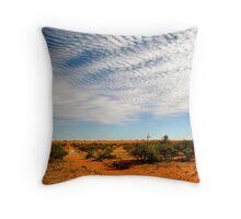 Desert Tracks Throw Pillow