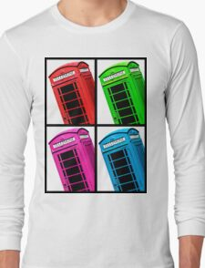 British Phone box 4 up multicoloured Long Sleeve T-Shirt