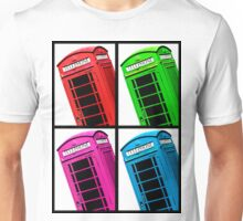 British Phone box 4 up multicoloured Unisex T-Shirt