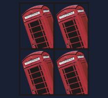Red British Phone box 4 up by Phillip Shannon
