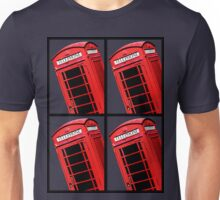 Red British Phone box 4 up Unisex T-Shirt