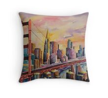 Golden Gate Bridge - San Francisco Throw Pillow