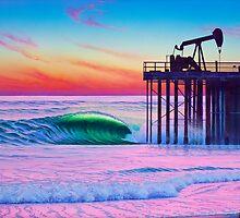 South pier,Oilpiers  by Tim Laski