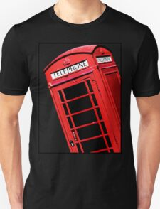 Red British Phone box Unisex T-Shirt