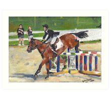 Showjumping Horse Show Portrait Art Print
