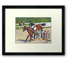 Showjumping Horse Show Portrait Framed Print
