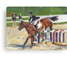 Showjumping Horse Show Portrait Canvas Print