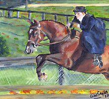Sidesaddle Horse Show Portrait by Oldetimemercan