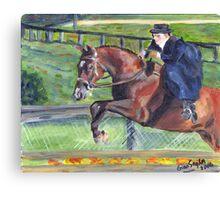 Sidesaddle Horse Show Portrait Canvas Print