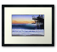 Oil piers Framed Print