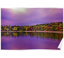 Brookline Reservoir park  Poster