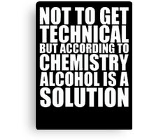 Funny Solution  Canvas Print