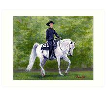 Arabian Horse Western Pleasure Portrait Art Print