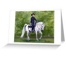 Arabian Horse Western Pleasure Portrait Greeting Card