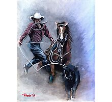 Calf Roper Quarter Horse Portrait Photographic Print