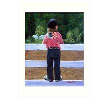 Horse Show Child Portrait Art Print