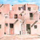 Taos Pueblo New Mexico by arline wagner