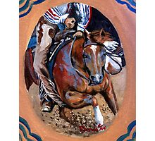 Cutting Horse Quarter Horse Portrait Photographic Print