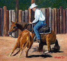 Cutting Horse Quarter Horse Portrait by Oldetimemercan