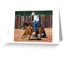 Cutting Horse Quarter Horse Portrait Greeting Card
