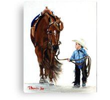 Western Pleasure Quarter Horse Portrait Canvas Print