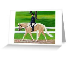 Palomino Quarter Horse Hunt Seat Portrait Greeting Card