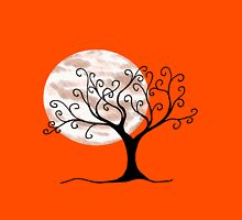 Swirly Tree and Moon - Simple and fun T-Shirt