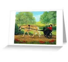 Palomino Pleasure Driving Quarter Horse Portrait Greeting Card