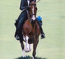 Elegance In Action American Saddlebred Horse Portrait by Oldetimemercan